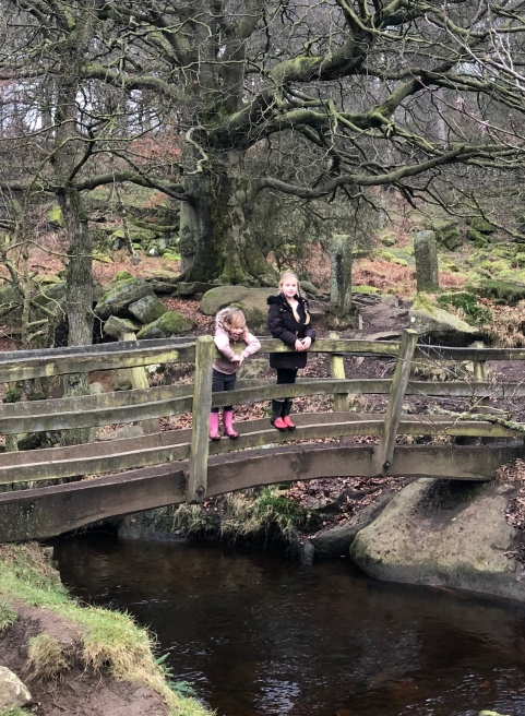 Pretty bridge near the start of Padley Gorge