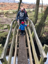 Bridge at the start of Padley Gorge